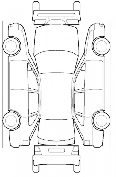 car damage diagram template sketch coloring page
